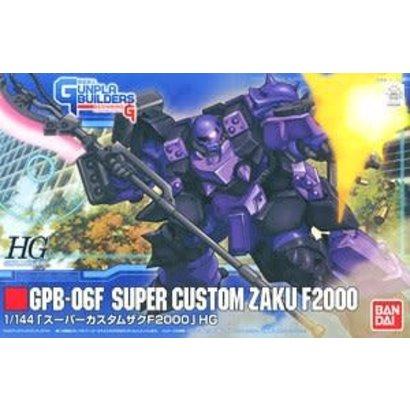 "BANDAI MODEL KITS 165393: #3 Super Custom Zaku F2000 ""GunPla Builders"", Bandai HGGPB 1/144"