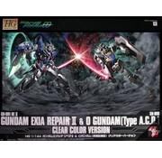 BANDAI MODEL KITS Exia Repair + 0 Gundam Clear Ver.