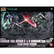 BANDAI MODEL KITS Exia Repair + 0 Gundam Clear Ver.