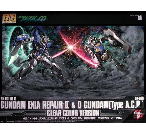 """BANDAI MODEL KITS 165323 Exia Repair + 0 Gundam Clear Ver.""""Gundam 00"""", Bandai HG 00"""