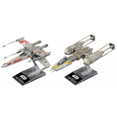 "BANDAI MODEL KITS 228377 X-Wing & Y-Wing Starfighter ""Star Wars"", Bandai Star Wars 1/144 Plastic Model Kit"
