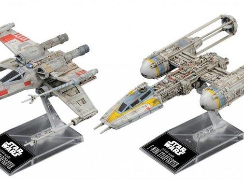 BANDAI MODEL KITS X-Wing & Y-Wing Starfighter 1/144