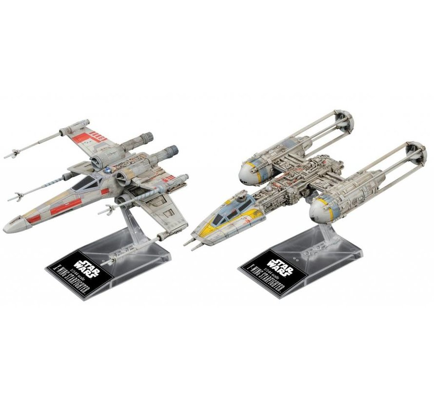 "228377 X-Wing & Y-Wing Starfighter ""Star Wars"", Bandai Star Wars 1/144 Plastic Model Kit"