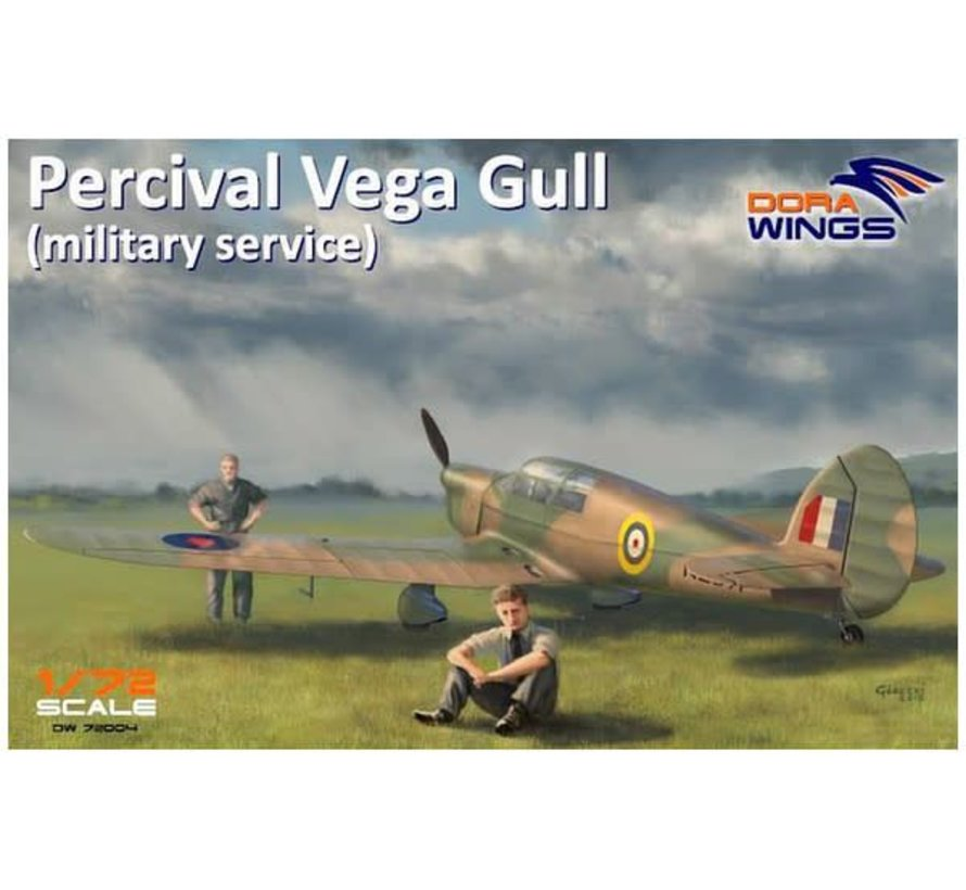 72004 Dora Wings 1/72 PERCIVAL VEGA GULL MILITARY SERVICE FOUR-SEATER AIRCRAFT