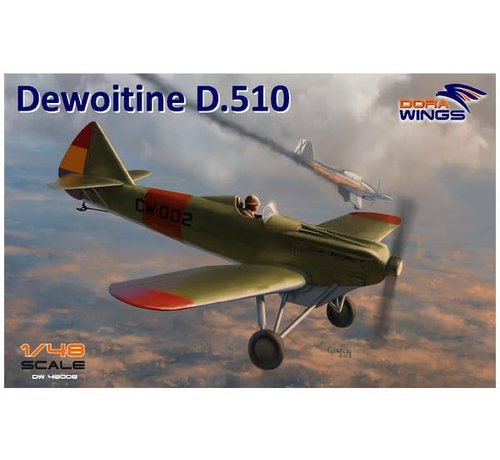 Dora Wings - DWN 48008 Dora Wings 1/48 Dewoitine D-510 Spanish Civil War Monoplane Fighter (New Tool)