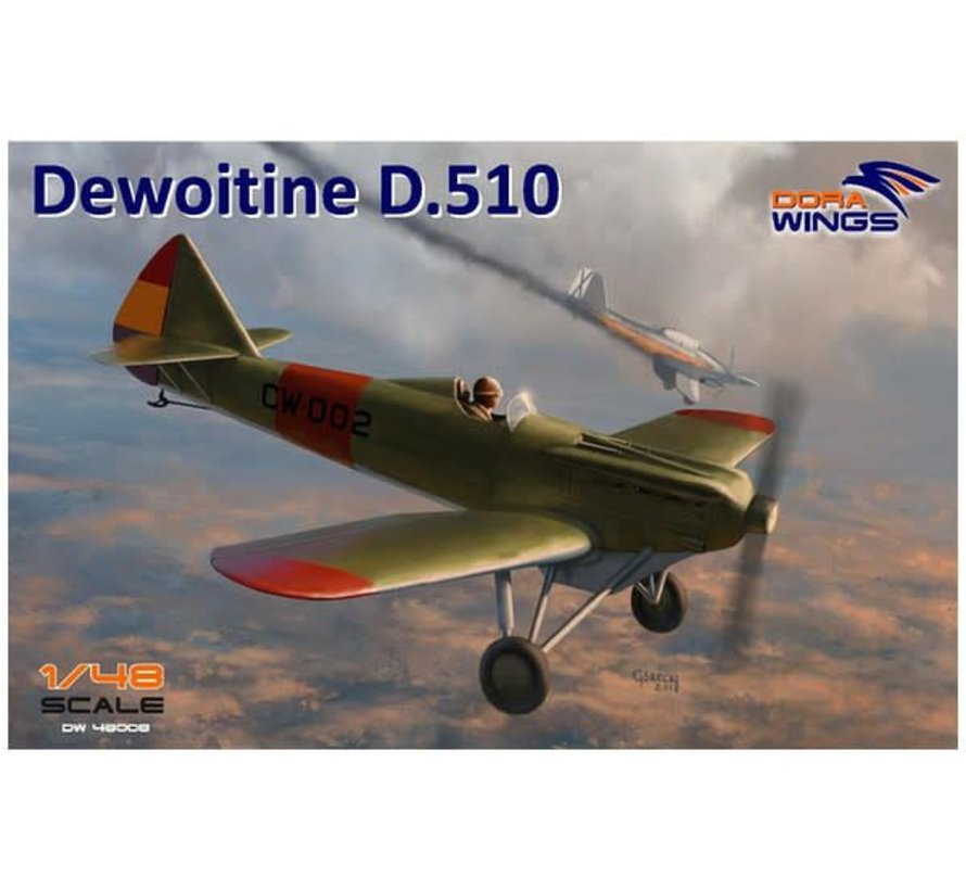 48008 Dora Wings 1/48 Dewoitine D-510 Spanish Civil War Monoplane Fighter (New Tool)