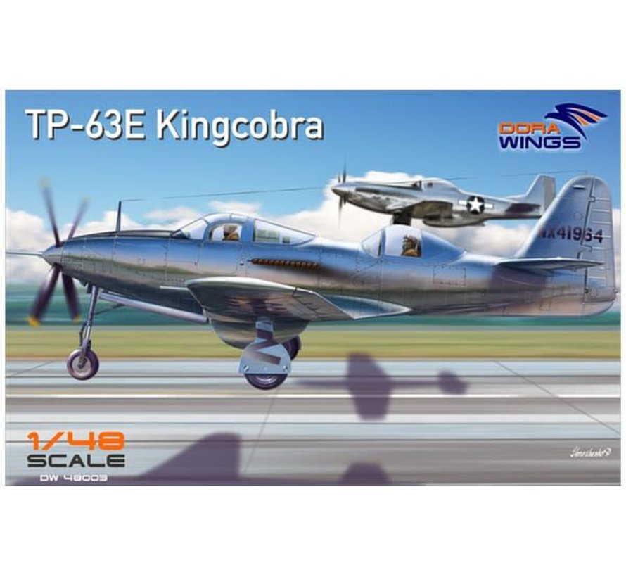 48003 Dora Wings 1/48 TP-63E King Cobra Two-Seater Aircraft (New Tool)