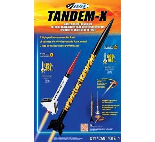 Estes -EST 1469 Tandem-X Launch Set E2X Easy-to-Assemble/Skill L1 Model Rocket