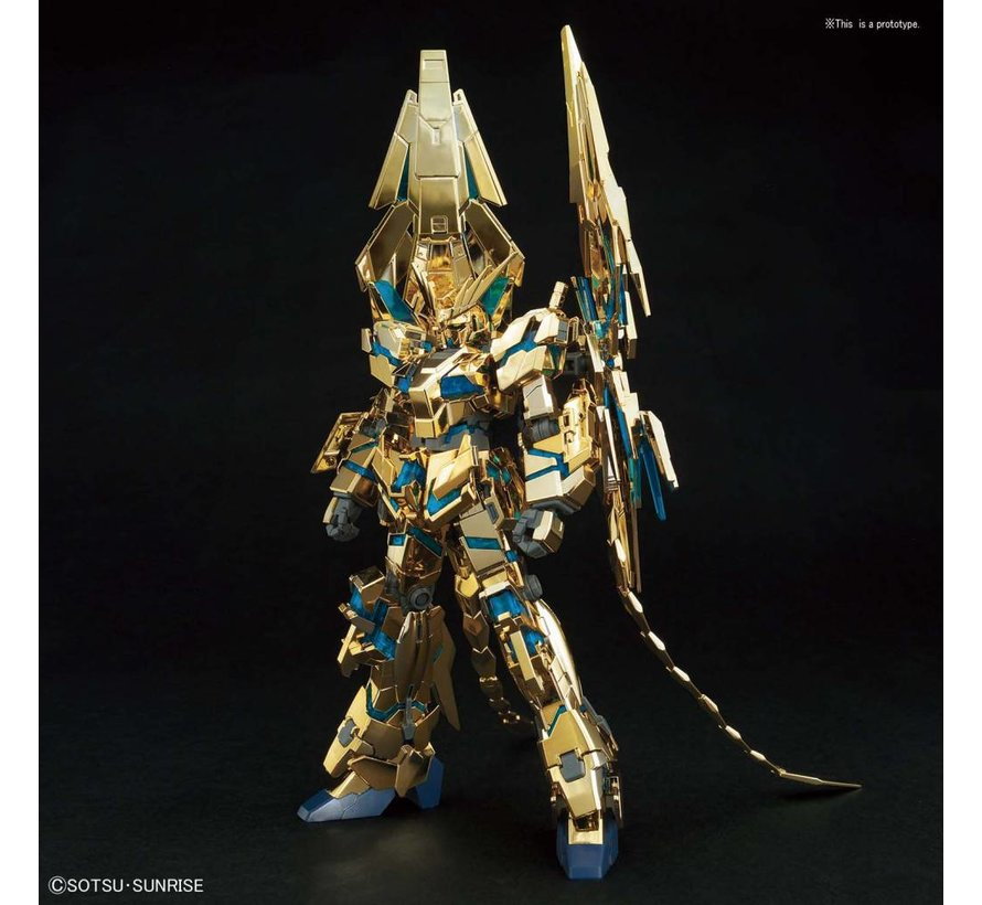 "5055342 #216 Unicorn Gundam 03 Phenex (Destroy Mode) (Narrative Ver.)[Gold Coating] ""Gundam NT"" Bandai HGUC 1/144"