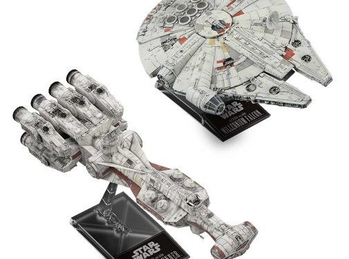 BANDAI MODEL KITS Blockade Runner & 1/350 Millennium Falcon