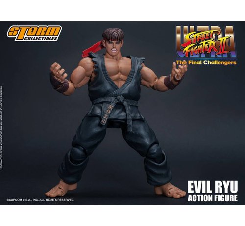 """Storm Collectibles 87062 Evil Ryu """"Ultra Street Fighter II: The Final Challengers"""", Storm Collectibles 1/12 Action Figure"""
