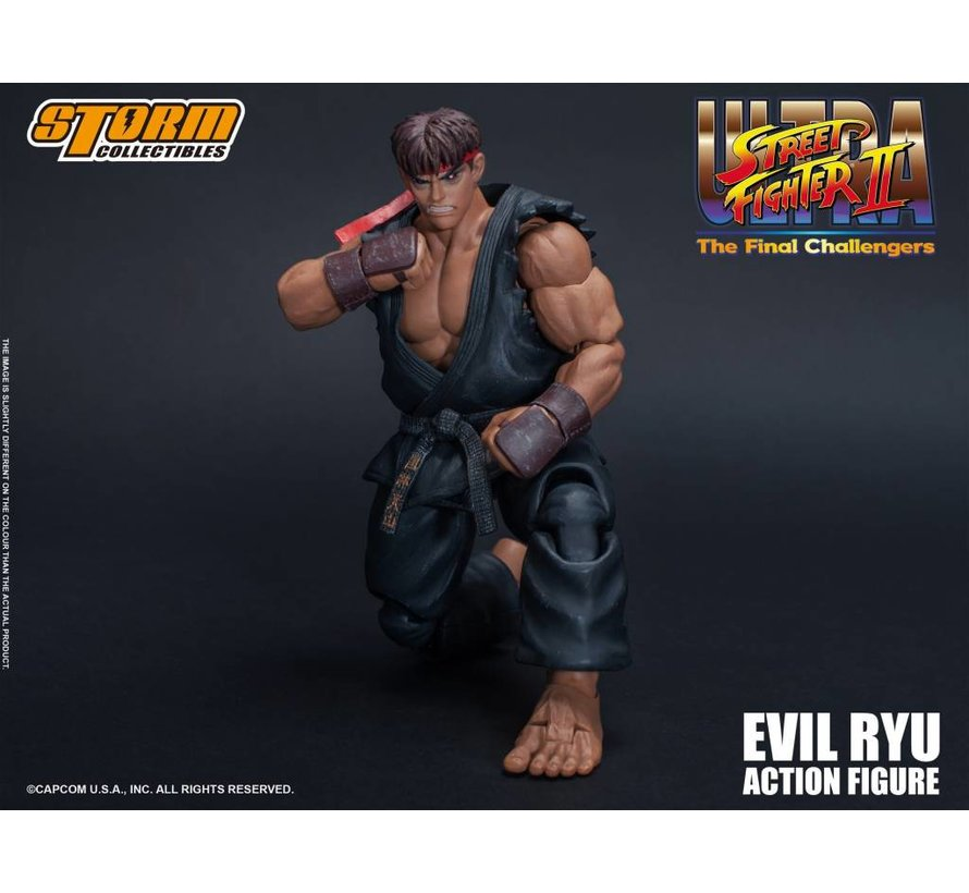 """87062 Evil Ryu """"Ultra Street Fighter II: The Final Challengers"""", Storm Collectibles 1/12 Action Figure"""