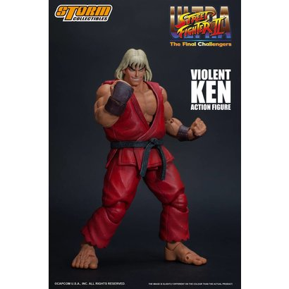 "Storm Collectibles 87063 Violent Ken ""Ultra Street Fighter II: The Final Challengers"", Storm Collectibles 1/12 Action Figure"