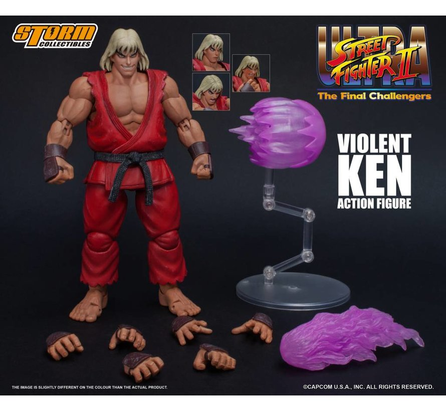 "87063 Violent Ken ""Ultra Street Fighter II: The Final Challengers"", Storm Collectibles 1/12 Action Figure"