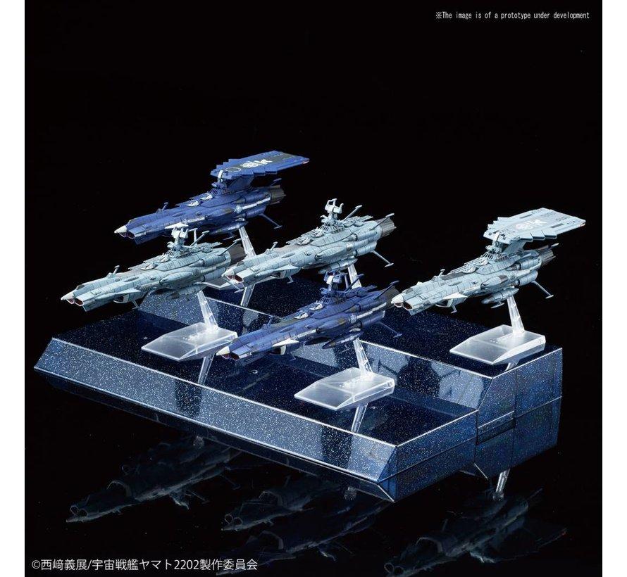"5055354 #08 U.N.C.F. Andromeda Class Set ""Star Blazers"", Bandai Mecha Collection"