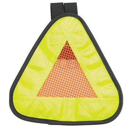 "Aardvark Reflective Triangle Yield symbol 7x7"" with Velcro Strap"