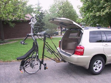 Draftmaster Car Rack - 2 Standard Bikes or SWB Recumbents with 2'' Interconnect