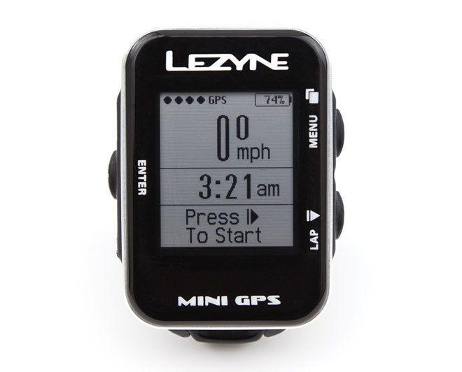 Lezyne Lezyne Mini GPS Cycling Computer, USB cable charger and handlebar mount: Black