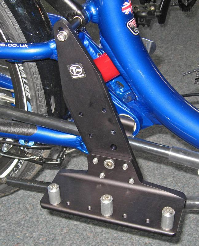 TerraCycle ICE battery mount for suspended trike