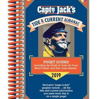 PRC Capt'n Jack's Tide & Current Almanac - Puget Sound 2019