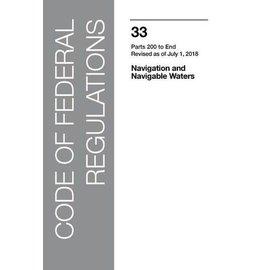 GPO CFR33 V3 200-END 2018 Navigation and Navigable Waters