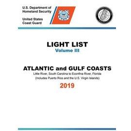GPO USCG Light List 3 2019 Little River SC to Esconfina River FL