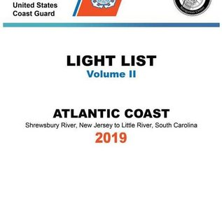 GPO USCG Light List 2 2019 Shrewsbury River NJ to Little River SC