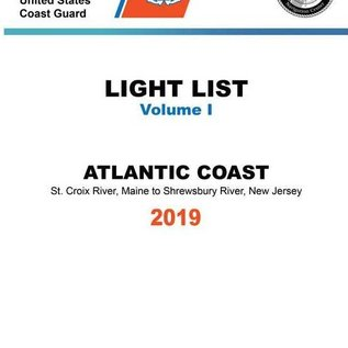 GPO USCG Light List 1 2019 St Croix River ME to Shrewsbury River NJ