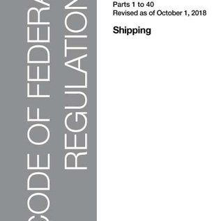 GPO CFR46 Volume 1 Parts 1-40  Shipping 2018