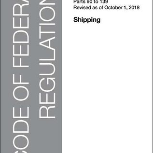 GPO CFR46 Volume 4 Parts 90-139  Shipping 2018
