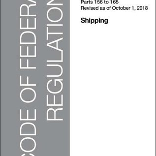 GPO CFR46 Volume 6 Parts 156 to 165 Shipping 2018