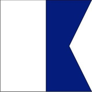 """Signal Flag Letter """"A""""  3' X 3' (#7) w/toggles"""