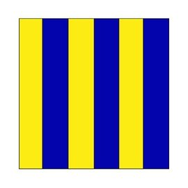 "Signal Flag Letter ""G""  3' X 3' (#7) w/toggles"