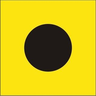 "Signal Flag Letter ""I""  3' X 3' (#7) w/toggles"