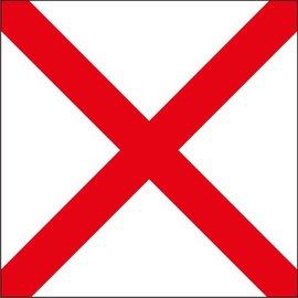 "Signal Flag Letter ""V""  3' X 3' (#7) w/toggles"