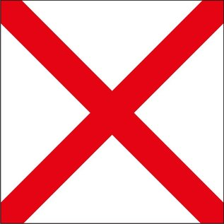 "Signal Flag Letter ""V"" 4' X 4' (#10) w/toggles"