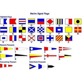 MNS Signal Flags Set w/toggles 3' X 3' (#7)
