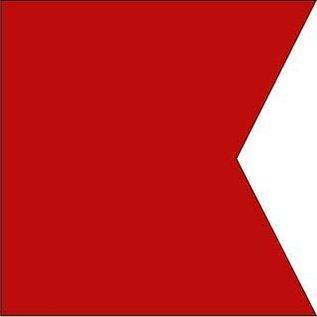 "MCN Signal Flag Letter ""B"" (Bravo)  3' X 3'   w/grommets"