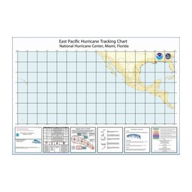 East Pacific Hurricane Tracking Chart  by NOAA