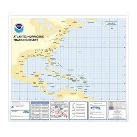 Western  Atlantic Basin Hurricane Tracking Chart  by NOAA