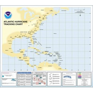 Western  Atlantic Basin Hurricane Tracking Chart  by NOAA