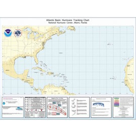 Atlantic Basin Hurricane Tracking Chart by NOAA