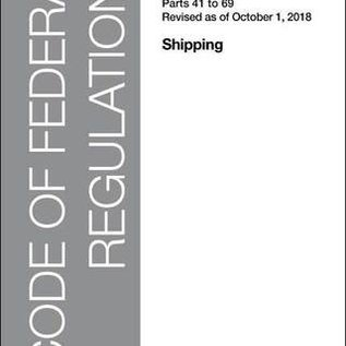 GPO CFR46 Volume 2 Parts 41-69 Shipping 2018