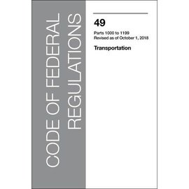 GPO CFR49 Volume 8 Parts 1000-1199 Transportation 2017
