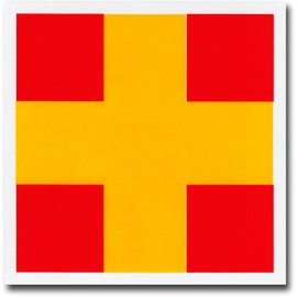 """Signal Flag Letter """"R"""" 3' x 3' (#7) with toggles"""