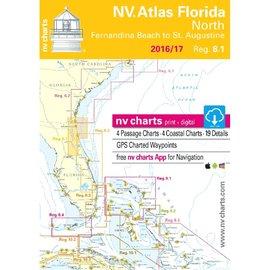 NV Charts Region 8.1 Florida North,  Fernandia Beach to St. Augustine 2016/17