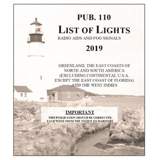 GPO List of Lights Pub110 List of Lights Greenland to Caribbean 2019