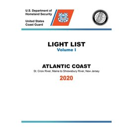 GPO USCG Light List 1 2020 St Croix River ME to Shrewsbury River NJ