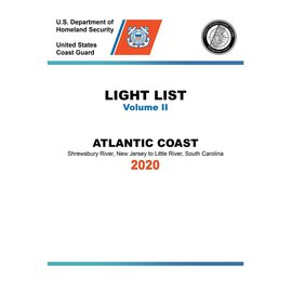 GPO USCG Light List 2 2020 Shrewsbury River NJ to Little River SC