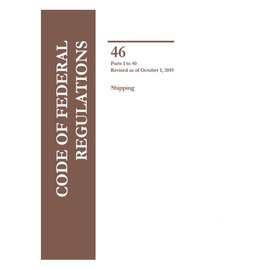 GPO CFR46 Volume 1 Parts 1-40  Shipping 2019